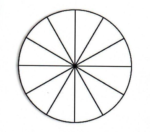 breukencirkel in 12 stukken