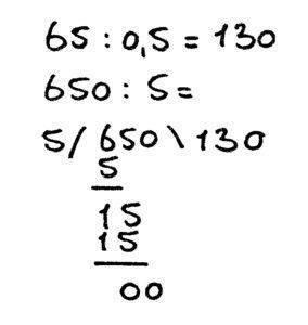 hele getallen delen door kommagetallen voorbeeldsom