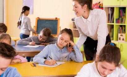 leerlingen toets maken