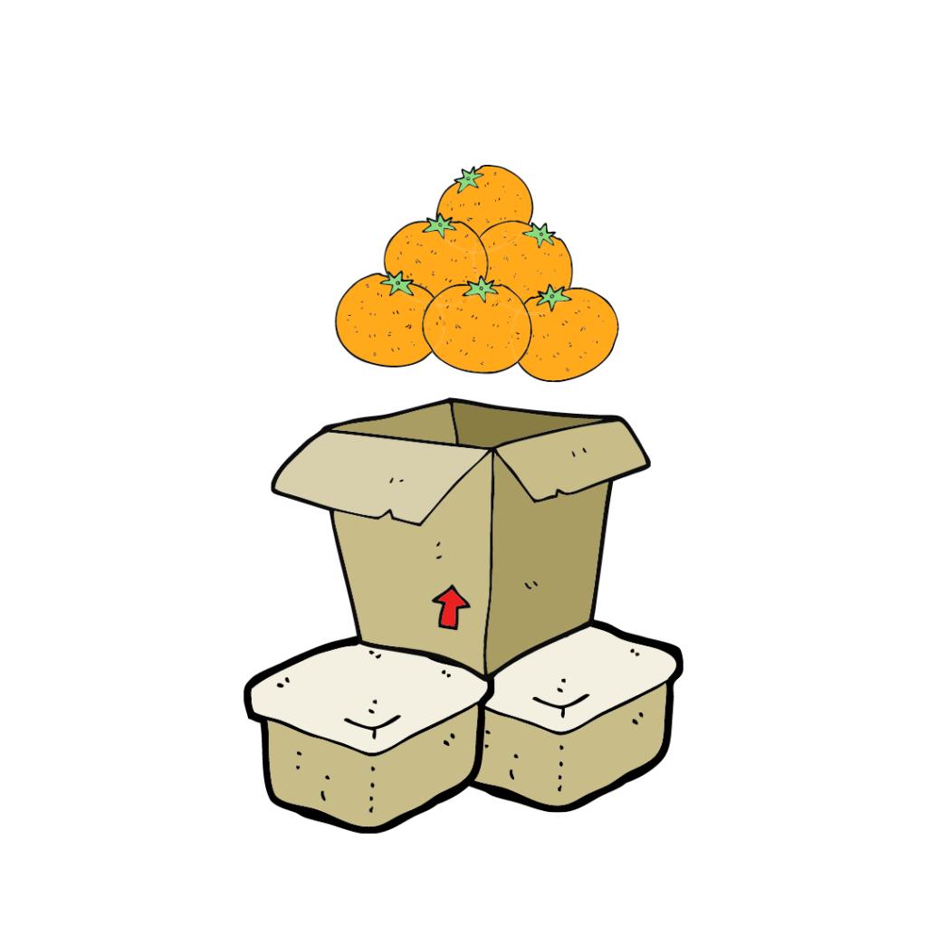 sinaasappelen dozen