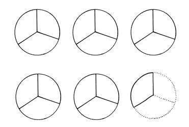 tekening breuken pizzapunten