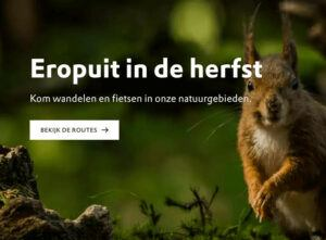 eropuit routes in de herfst
