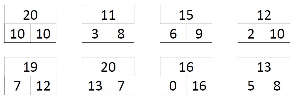 uitleg splitsen tot en met het getal 20