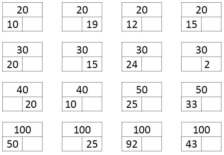 voorbeeld splitsen tot 100