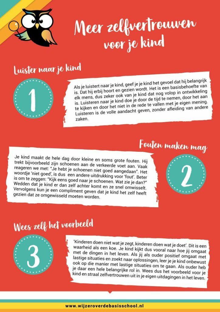 poster met zelfvertrouwen tips