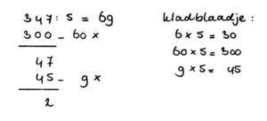 voorbeeld delen kommagetallen