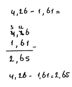 voorbeeld minsom kommagetallen