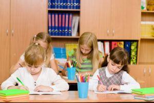 kinderen doen test