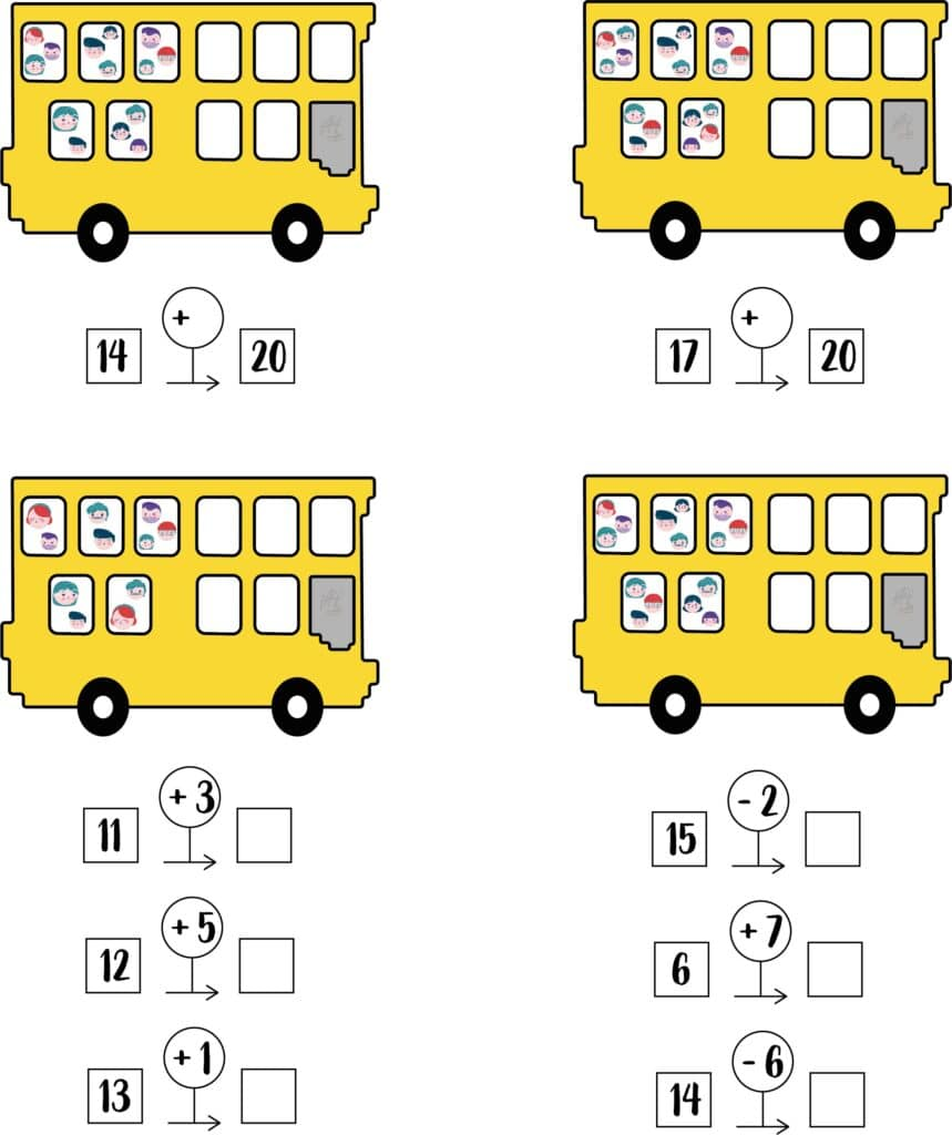 bussommen groep 4 werkblad