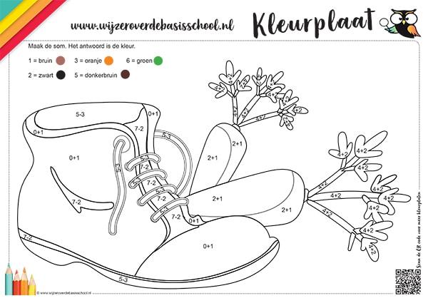 kleurplaat sinterklaas schoen