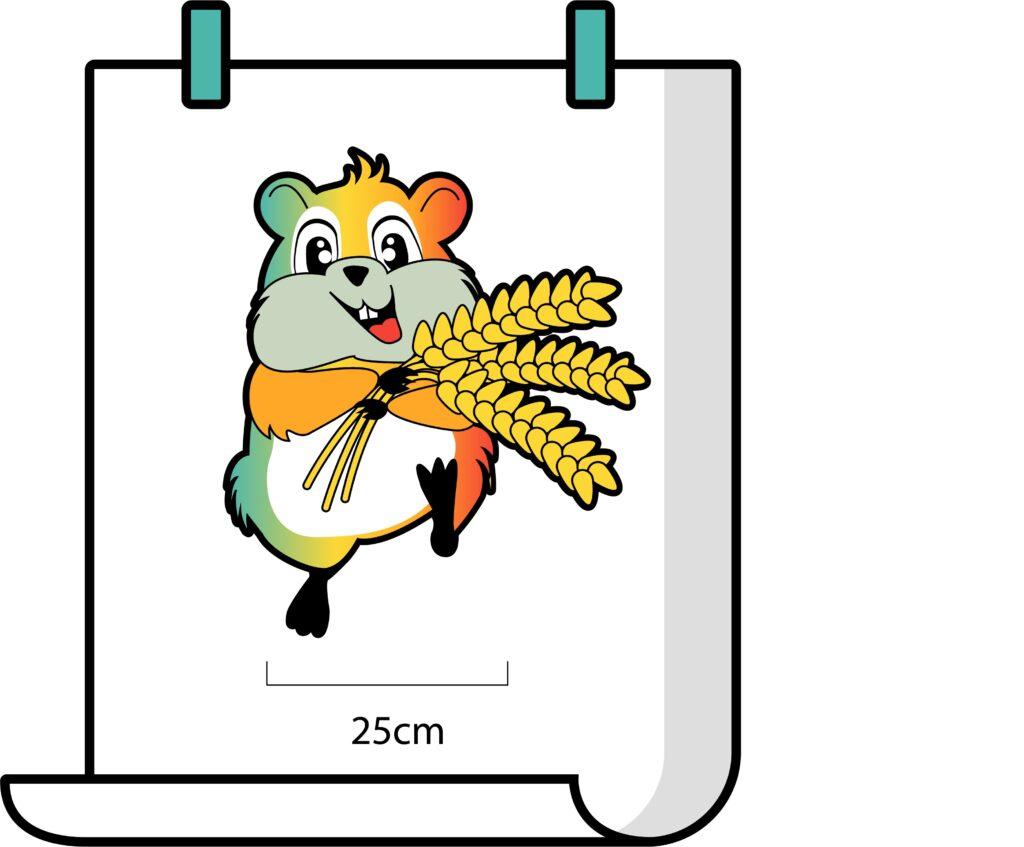 schaal berekenen hamster