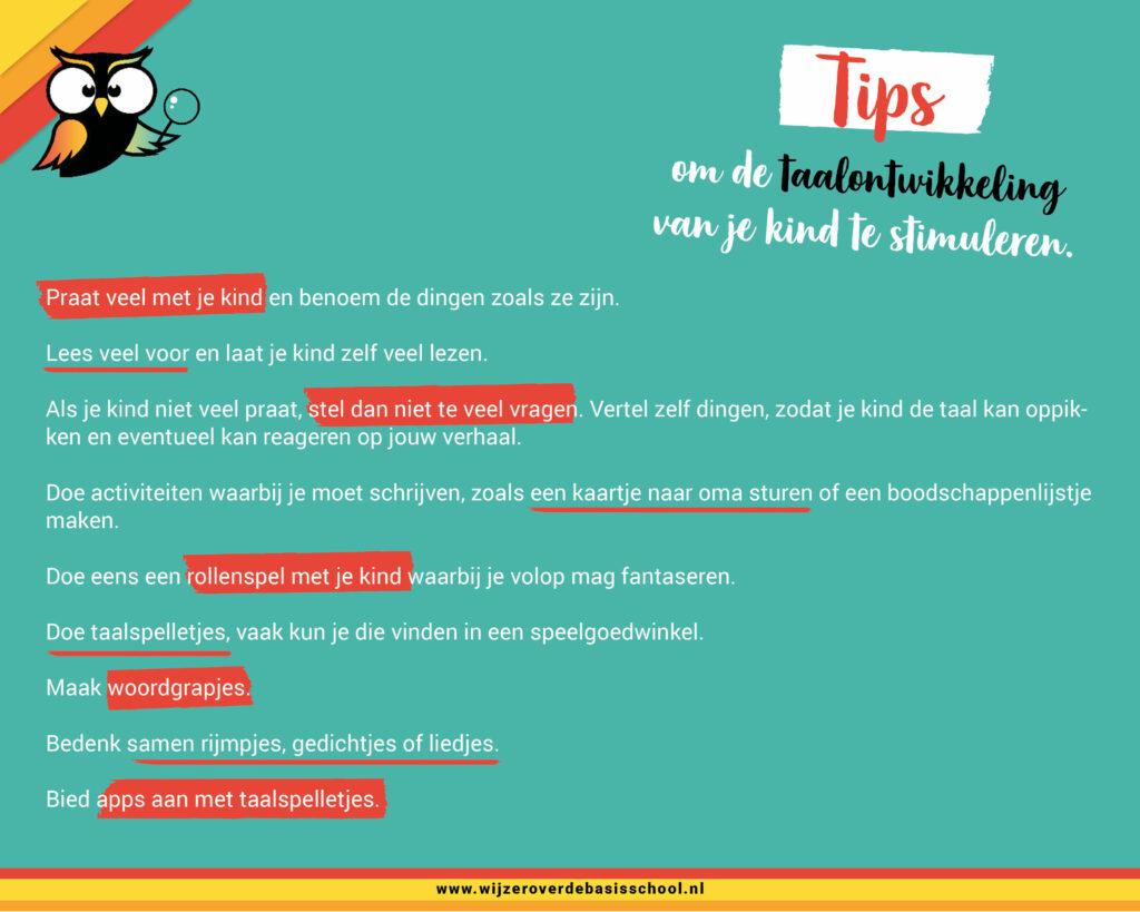 taalachterstand tips