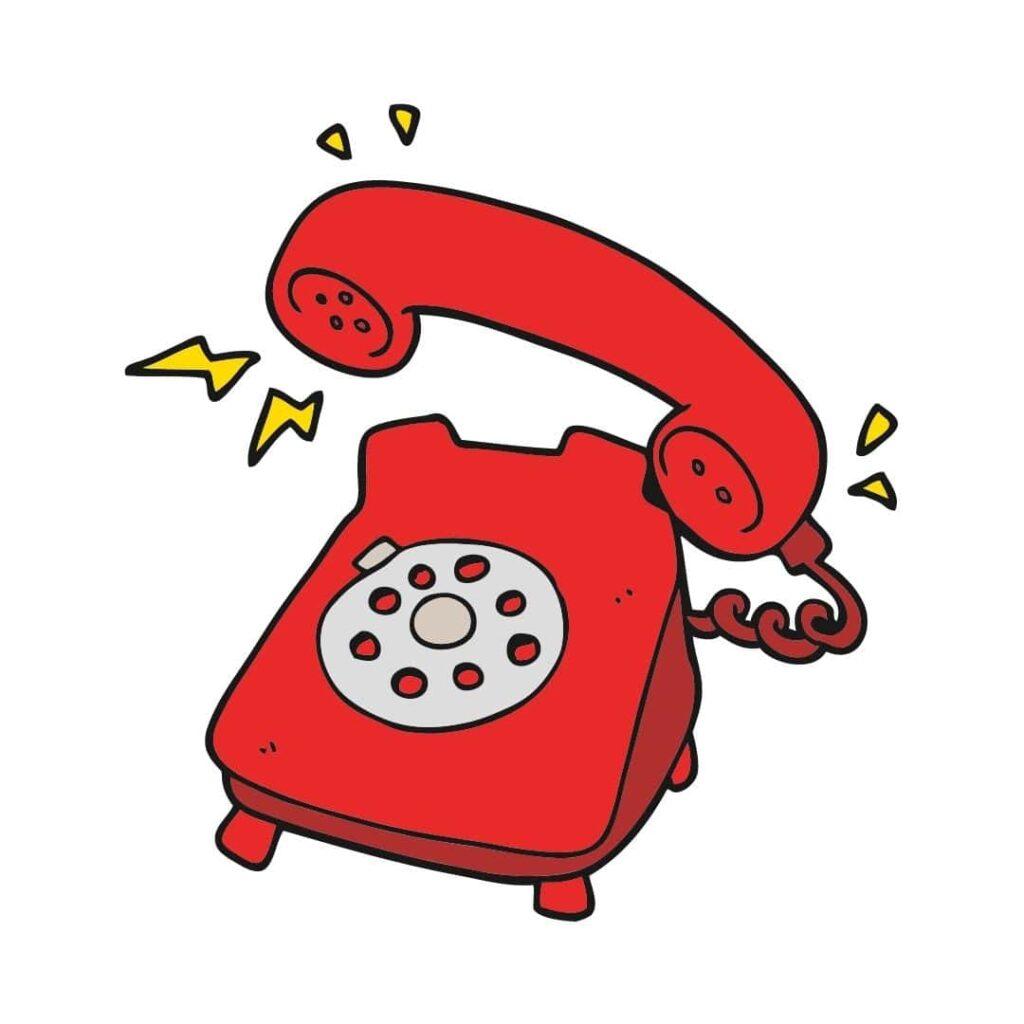 rinkelende telefoon