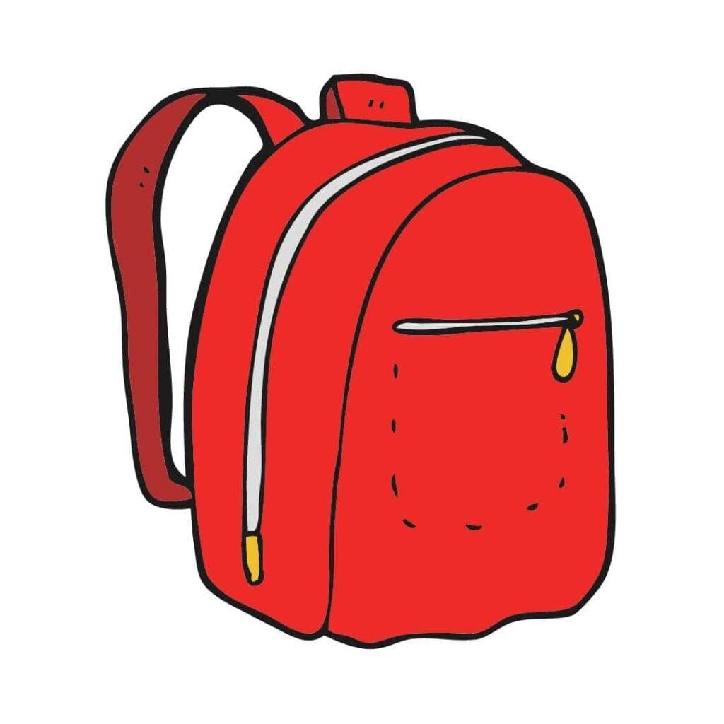 rode rugzak