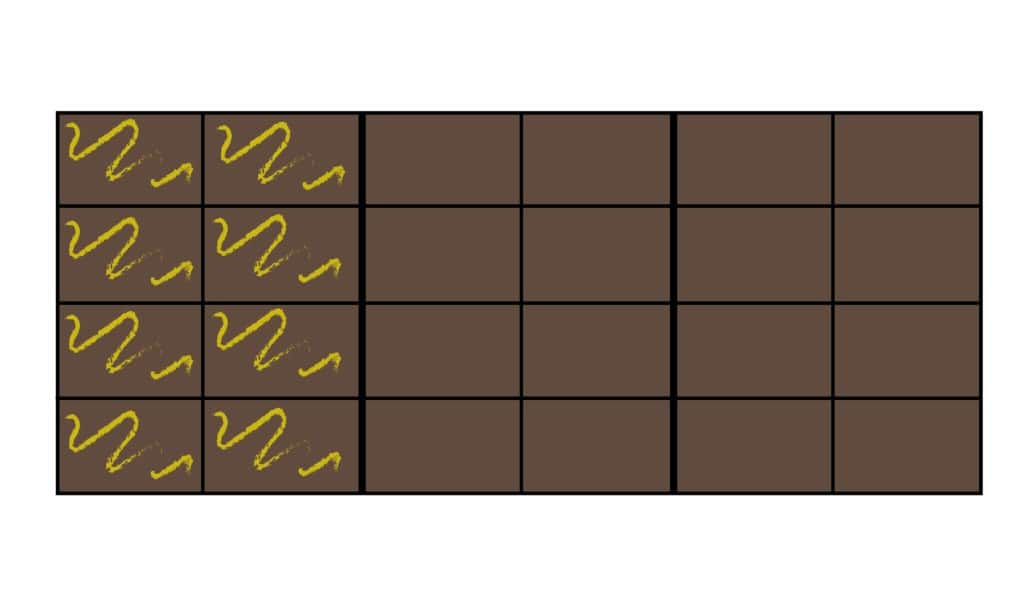 1/3 van 24 chocoladeblokjes