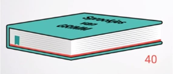 Boek verdeeld in 9
