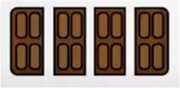 breuk voorbeeld chocolade reep stukjes