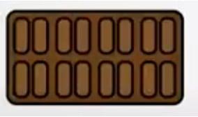 breuk voorbeeld chocoladereep