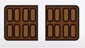 breuk voorbeeld halve chocoladereep