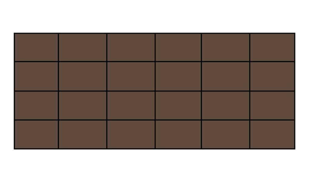 Chocoladereep 24 blokjes