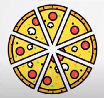pizza voorbeeld breuk