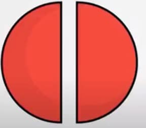 voorbeeld breuk halve cirkels
