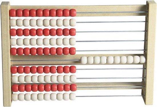 jergo telraam met 100 rood witte kralen